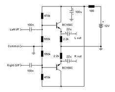 Pre Amp Schematic Audio Stereo Line Driver Electronics Basics, Electronics Projects, Electronic Circuit Design, Diy Amplifier, Electronic Schematics, Circuit Diagram, Vacuum Tube, Ham Radio, Loudspeaker