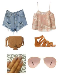 """""""Untitled #140"""" by katerina-coatney on Polyvore featuring MANGO, T-shirt & Jeans, Miss Selfridge and Ray-Ban"""