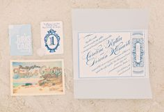 Perfect stationery for a seaside soiree Photography by threenailsphotography.com Stationery by @Baumbirdy http://www.etsy.com/shop/baumbirdy