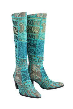 Blue - Cuban Heel