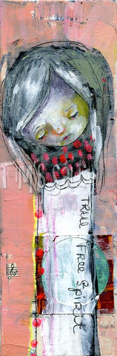 primitive mixed media -TFS WRAPPED - 8x10 print by Mindy Lacefield. $18.00, via Etsy.