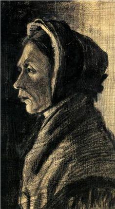 Head of a Woman 1883 - Vincent van Gogh