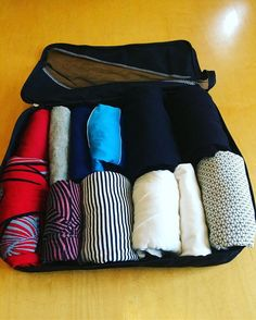 I love traveling! But I hate packing! At least I used to - then I discovered a new, more methodical approach.  It takes a bit of prep but you will end up with less luggage that will still include everything you need. Link to article in my profile. #konmarimethod #konmari #packinghacks #packing #travel #lifehacks #declutter #sparkjoy #instablog #luggage #minimalism #minimalistpacking
