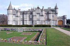 Balmoral Castle in Scotland, home of the British Royal Family~