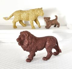 Jungle Safari Baby Shower Decorations Lion Pride in Brown and Gold Glitter for Boy or Girl Wild Jungle Nursery Decor, Birthdays, or Weddings...