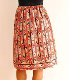 vintage chevron stripe skirt