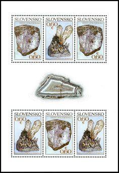 Poštová známka Ochrana prírody: Slovenské minerály