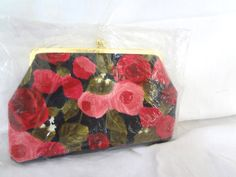 1950's Purse Clutch NEVER OPENED Pink Red by GnarlyNutmeggers