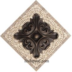Mini Medallion Collection   Small Mosaic Tile And Metal Backsplash Accents