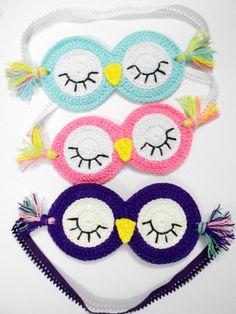 Crochet sleeping mask Sleepy Owl