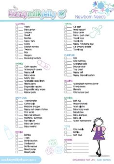 checklist of things you need for a baby shower search