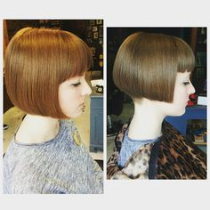 Bobs have made a real come back...and rightly so! They frame your face, and show off your haircut and charm. No hiding with a bob! #haircut #bob #hoxton #shoreditch