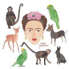 Frida Kahlo by miss yasemin - Melbourne artist and illustrator