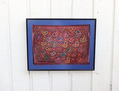 Framed Bird Mola Kuna Women Multicolor Blue by PartialtoPretty, $75.00