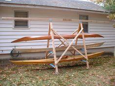A Simple A-Frame Kayak Storage Rack | BrianNystrom.