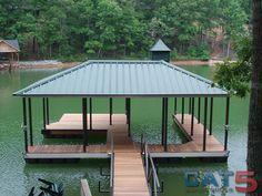 lake house deck designs | Boat Dock Designs Building Plans – House Plans