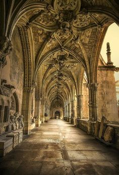 The Gothic Cloister of Catedral de León, Spain