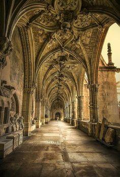 The Gothic Cloister of Catedral de León, Spain
