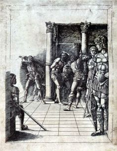 The Flagellation of Christ in the Pavement - Andrea Mantegna