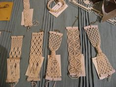 Macrame bracelets — I especially love the ones that are tied in knots!