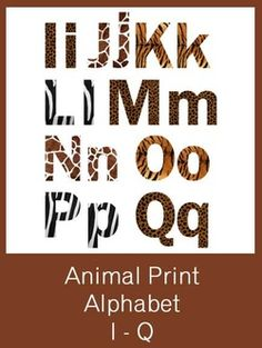 Animal Print Letters Printable Leopard Print Letters