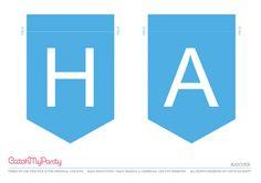 Free Emoji Party Printable Happy Birthday Banner   CatchMyParty.com