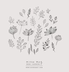 Flowers Illustration Pattern Doodles 69 Ideas For 2019 Illustration Botanique, Illustration Blume, Illustration Flower, Flower Illustrations, Simple Illustration, Botanical Illustration Black And White, Pattern Illustrations, Illustration Sketches, Photo Illustration