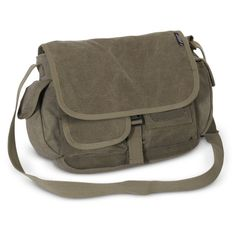 Everest-Small-Canvas-Messenger-Bag-CT073S-Olive