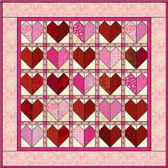 Heart Quilt Pattern - © Janet Wickell