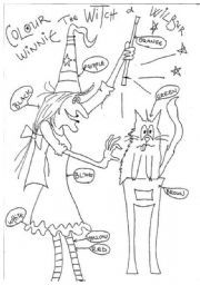 English worksheet: winnie the witch