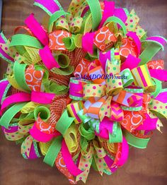 This item is unavailable – Spring Wreath İdeas. Summer Door Wreaths, Easter Wreaths, Holiday Wreaths, Spring Wreaths, Mesh Wreath Tutorial, Diy Wreath, Wreath Ideas, Ornament Wreath, Burlap Wreath