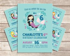 Mermaid party invitation free printable lets party pinterest mermaid birthday invitation our little mermaid under the sea pool party invitation birthday invitation printable solutioingenieria Images