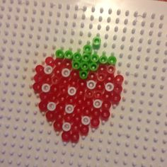 Strawberry hama beads by amskay