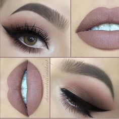 Nicely nude by gorgeous @shannonbellemakeup beautifully peachy, taupe smokes PRODUCTS USED… LIPS: @jeffreestarcosmetics in CelebritySkin. @rimmellondonuk Lip Pencil in Cappuccino. EYES: Eye...