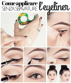 Come applicare l'#eyeliner senza sbavature #beautyhowto #beautytips #consiglidibellezza #makeup #occhi