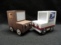 cardboard mail trucks how-to