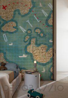 #wallpaper #interior #design #map #Обои Wall&Deco Life 15, WDFA1501