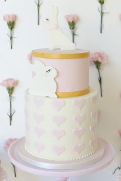 Perfectly Pink Bunny Cake