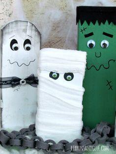 Wood Halloween Famil