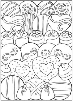Valentine's Day coloring pages | Dessert Designs Coloring Pages