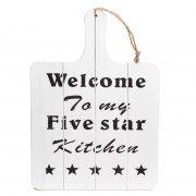 Broodplank met Tekst Welcome http://www.lobbes.nl/in-en-om-het-huis/koken/keuken-gerei/detail/3180182A-broodplank-met-tekst-welcome