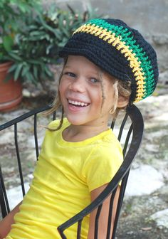 Crochet Net Tam for Dreads in Jamaican Colors for by DigginRasta, $17.00