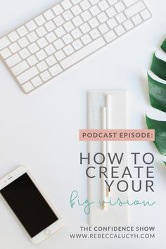 How to get clarity on your big vision so you can create a strategy that helps you achieve success in your online business. In this episode of The Confidence Show we're looking at how to create your big vision. This vision will help to increase confidence, increase motivation   therefore increase productivity so you can achieve your goals. The Confidence Show is a podcast for female entrepreneurs. Podcasts for women. Increase Confidence, Confidence Coaching, Woman Quotes, Empowering Women Quotes, Inspiration Entrepreneur, How To Get Clients, Good Time Management, Creating A Vision Board, Empowered Women