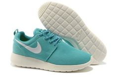 half off 4f679 4d4d8 Cheap Nike Roshe Run Women USA Sale,Nike running Shoes outlet! Nike Roshe  Run Womens Light Blue White Mesh Shoes   -