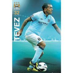 Manchester City FC Carlos Tevez poster English Premier League new Argentina