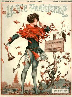 France Drawing - France La Vie Parisienne Magazine by The Advertising Archives La Vie Parisienne, Illustrators, Advertising Archives, Art Deco Illustration, Illustration Art, Art, Vintage Posters, Cover Art, Vintage Illustration