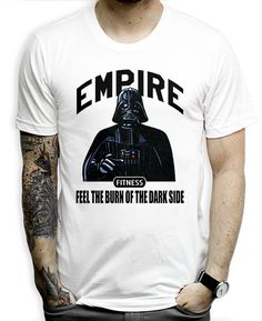 Empire Fitness on a White Unisex Tee Shirt