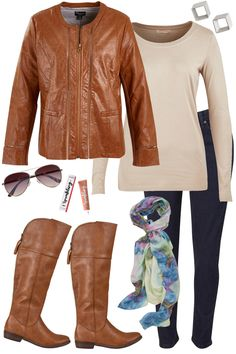 Outfit of the Day: Sit back, relax and let us take the wheel! We will have you looking and feeling right on trend with this outfit. A leather look jacket and aviator style sunglasses keep you on your game and leading the way!