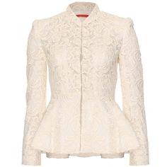 Designer Clothes, Shoes & Bags for Women Lace Blazer, Peplum Jacket, Lace Jacket, Lace Peplum, Pink Jacket, Cream Jacket, Cream Blazer, Batik Fashion, Hijab Fashion