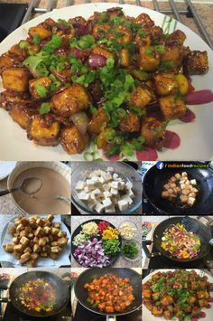 This is one of the great starters for vegetarians. We all love Indo-Chinese recipe step by steps and this is surely one of the favorites. Chili Paneer Recipe, Chilli Paneer, Paneer Recipes, Biryani Recipe, Veg Recipes, Vegetarian Recipes, Cooking Recipes, Snack Recipes, Sweets Recipes